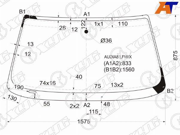 Стекло лобовое AUDI A8, AUDI A8 94-02