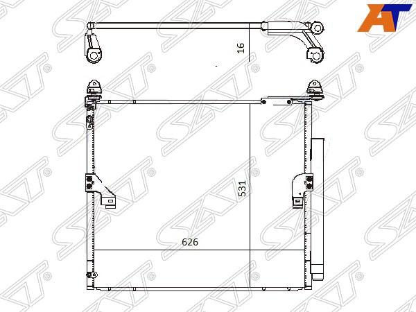 Радиатор кондиционера LEXUS GX460 10-, TOYOTA LAND CRUISER PRADO 150 09-