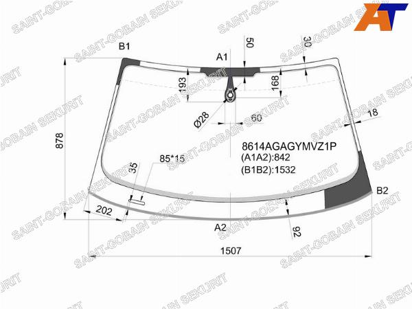 Стекло лобовое AUDI Q3 11-18