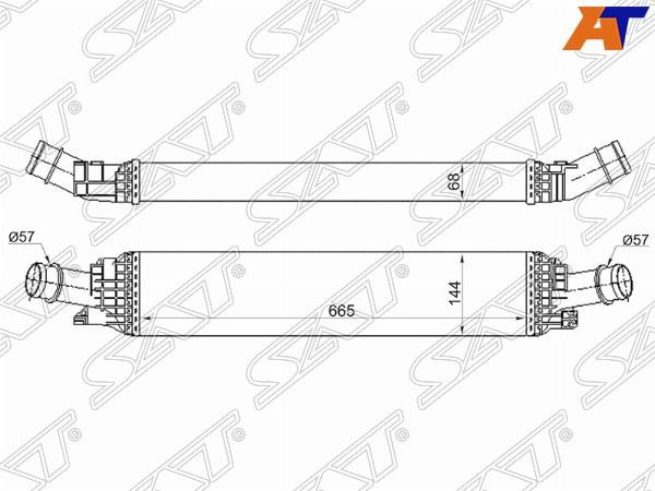Радиатор интеркулера AUDI A4/S4 07-14, AUDI A5 07-, AUDI A6 11-18, AUDI Q5 08-