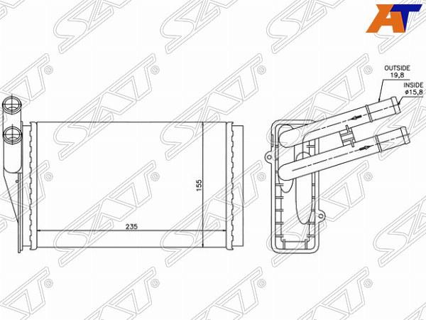 Радиатор отопителя салона AUDI 80, AUDI 80 78-94, AUDI 80 86-96