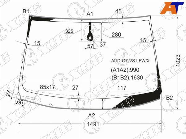 Стекло лобовое AUDI Q7, AUDI Q7 05-15