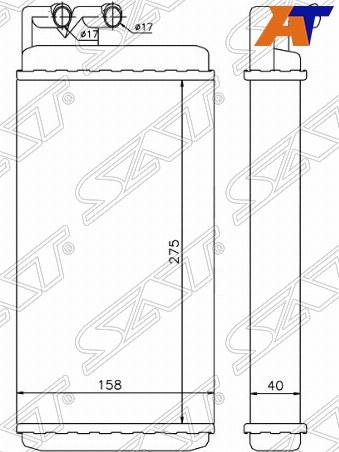 Радиатор отопителя салона AUDI 100, AUDI 100 C4 90-94, AUDI A6, AUDI A6 94-97, AUDI A6 94-97 4/5D
