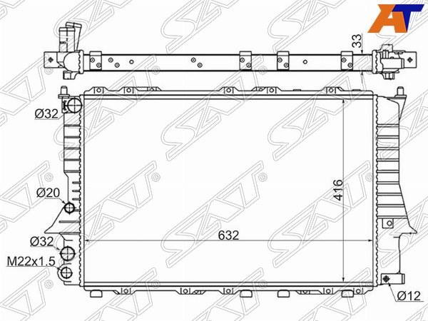 Радиатор AUDI 100 C4 90-94, AUDI A6 94-97, AUDI A6 94-97 4/5D