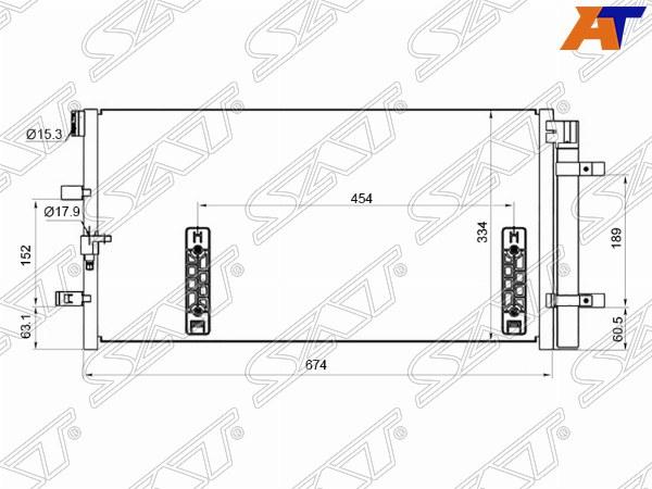Радиатор кондиционера AUDI A4, AUDI A4/S4 07-, AUDI A4/S4 07-14, AUDI A5, AUDI A5 07-, AUDI A5/S5 07-, AUDI A6, AUDI A6 11-, AUDI A6 11-18, AUDI A7, AUDI A7 10-, AUDI Q5, AUDI Q5 08-