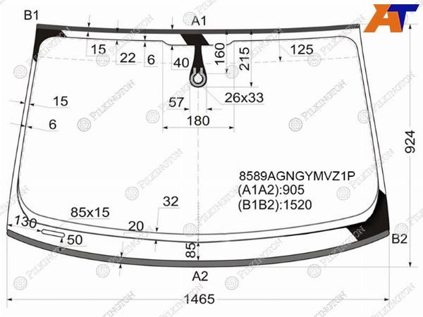 Стекло лобовое AUDI A4/S4 (B8) 07-15 4D, AUDI A4/S4 (B8) 07-15 5D