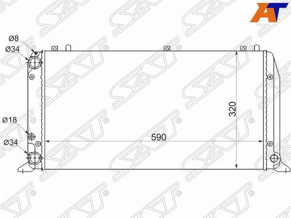 Радиатор AUDI 100 C4 90-94, AUDI 80 78-94, AUDI 80 86-96