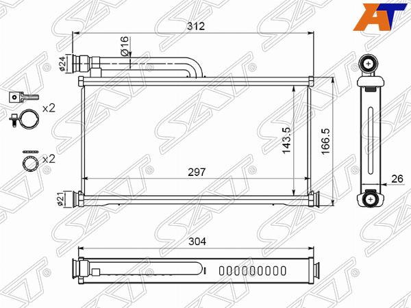 Радиатор отопителя салона AUDI A6 05-11/ALLROAD 06-