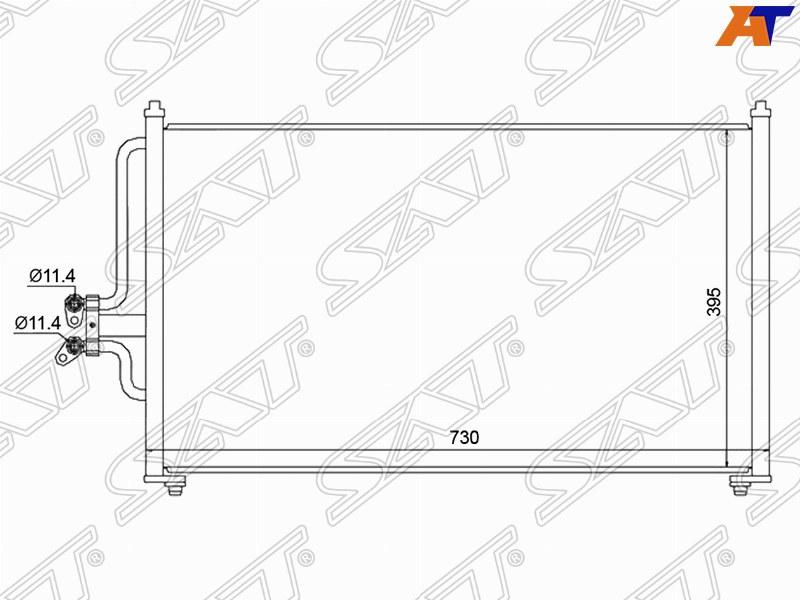 Радиатор кондиционера FORD ESCAPE / MAVERICK 01-08 / MAZDA TRIBUTE 01