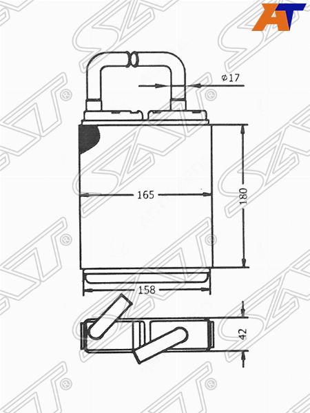Радиатор отопителя салона MAZDA MPV LV# 90-99