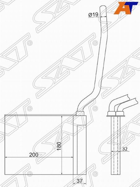 Радиатор отопителя салона FORD FOCUS / C-MAX 04- / MAZDA 3 03- / MAZDA 5 05- / VOLVO C 30 06- / C70 05- / S40 /